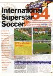 Scan of the review of International Superstar Soccer 64 published in the magazine 64 Extreme 4, page 1