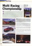 Scan of the preview of Multi Racing Championship published in the magazine 64 Extreme 4, page 1