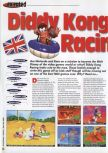 Scan of the review of Diddy Kong Racing published in the magazine 64 Extreme 8, page 1