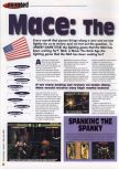 Scan of the review of Mace: The Dark Age published in the magazine 64 Extreme 8, page 1