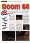 Scan of the review of Doom 64 published in the magazine 64 Extreme 8, page 1