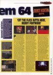 Scan of the review of Duke Nukem 64 published in the magazine 64 Extreme 8