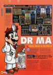 Scan of the review of Dr. Mario 64 published in the magazine N64 56, page 1