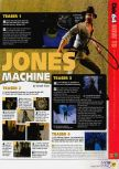 Scan of the walkthrough of Indiana Jones and the Infernal Machine published in the magazine N64 57, page 2
