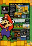Scan of the review of Paper Mario published in the magazine N64 58, page 2