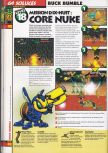 Scan of the walkthrough of Buck Bumble published in the magazine 64 Soluces 4