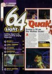 Scan of the preview of Quake II published in the magazine 64 Magazine 29