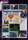 Scan of the preview of Superman published in the magazine 64 Magazine 29