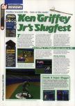 Scan of the review of Ken Griffey Jr.'s Slugfest published in the magazine 64 Magazine 29, page 1