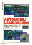 Scan of the review of Automobili Lamborghini published in the magazine Magazine 64 01