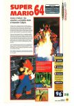 Scan of the review of Super Mario 64 published in the magazine Magazine 64 01