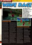 Scan of the walkthrough of Wave Race 64 published in the magazine 64 Solutions 02, page 1