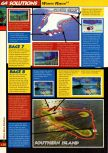 Scan of the walkthrough of Wave Race 64 published in the magazine 64 Solutions 02, page 7