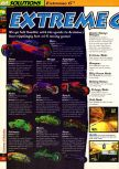 Scan of the walkthrough of Extreme-G published in the magazine 64 Solutions 02, page 1
