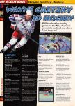 Scan of the walkthrough of Wayne Gretzky's 3D Hockey published in the magazine 64 Solutions 03, page 1