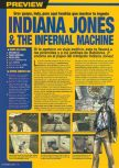 Scan of the preview of Indiana Jones and the Infernal Machine published in the magazine Nintendo Accion 100