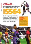 Scan of the walkthrough of International Superstar Soccer 64 published in the magazine Magazine 64 06, page 1