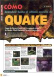 Scan of the walkthrough of Quake published in the magazine Magazine 64 09, page 1
