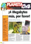 Scan of the article ¡4 Megabytes más, por favor! published in the magazine Magazine 64 11, page 1