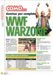 Scan of the walkthrough of WWF War Zone published in the magazine Magazine 64 19, page 1