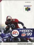Scan of manual of Madden NFL 99