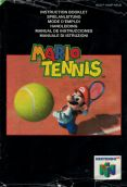 Scan of manual of Mario Tennis